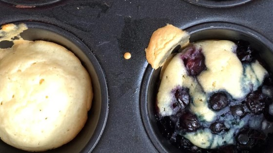 dairy-free, oven-baked blueberry pancake muffins
