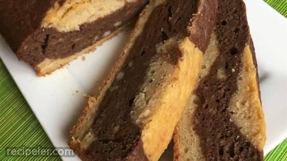 Dark Chocolate Marbled Banana Bread with Greek Yogurt