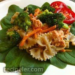 delicious salmon pasta salad