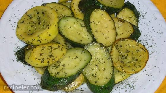 dill and butter squash