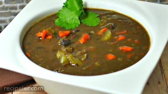 Easy And Quick Black Bean Soup