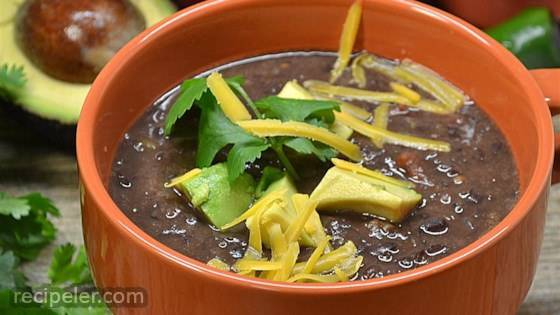 Easy and Super Delicious Black Bean Soup