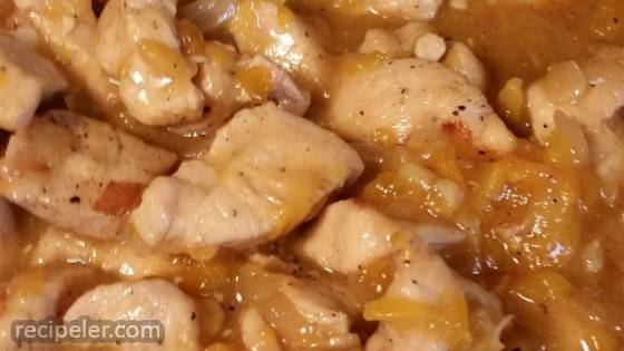 Easy Apricot Chicken in a Pan