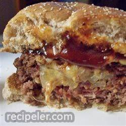 Easy Bacon, Onion and Cheese Stuffed Burgers