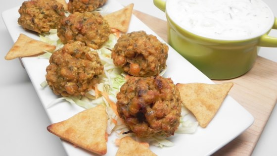 Easy Baked Falafel With Cucumber-yogurt Sauce