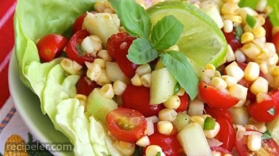 Easy Cherry Tomato Corn Salad