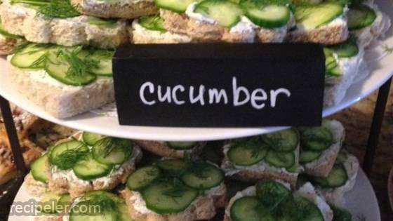 Easy Cucumber Party Sandwiches