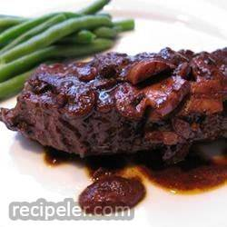 Easy Flat ron Steak in Wine Sauce