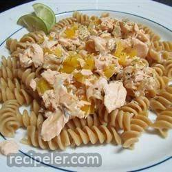 Easy Grilled Salmon Pasta
