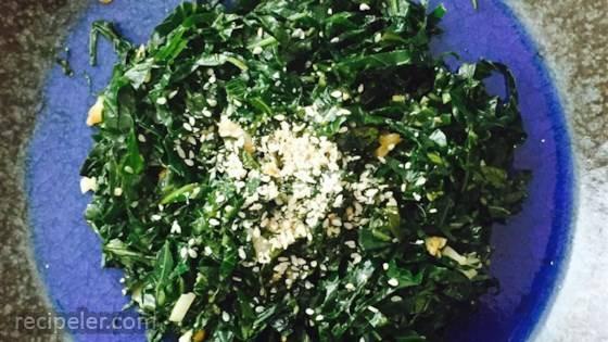 Easy Japanese-style Vegan Collard Greens