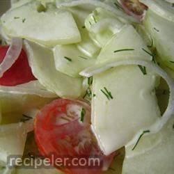 Easy Lemony-Dilly Cucumber Salad