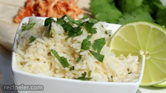 Easy Lime Cilantro Rice