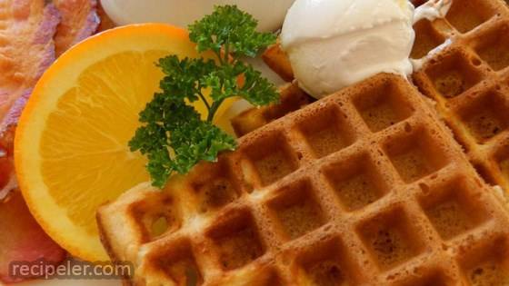 Easy Malted Waffles