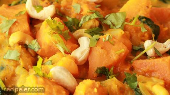 Easy ndian-Style Pumpkin Curry