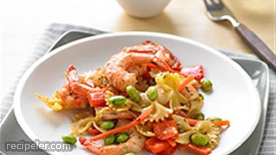 Easy Shrimp and Veggie Pasta Fresca