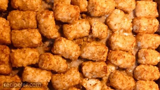 Easy Tater Tot Hot Dish