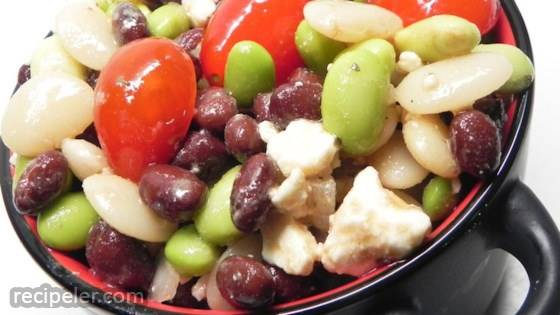 Edamame Salad with Sherry-Rice Vinaigrette