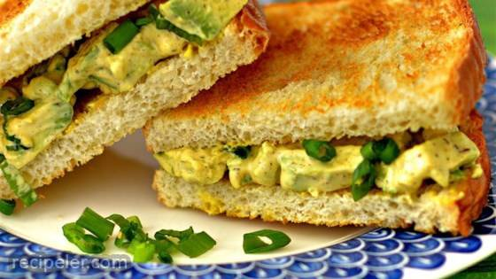 Egg-Style Avocado Salad Sandwiches