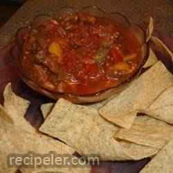 Eggplant Salsa and Homemade Pita Chips