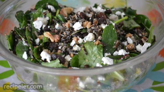 Ekaterina's Wild Rice and Kale Salad
