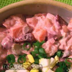 Ensalada Roja con Pollo (Red Salad with Chicken)