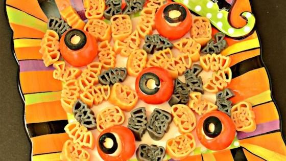 eyeballs for halloween spaghetti