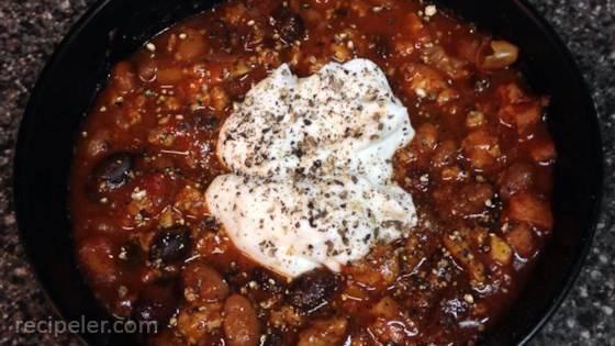 Fantastic Black Bean Chili