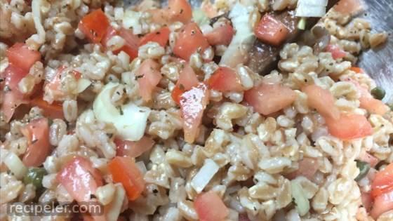 Farro in nsalata alla Milanese (talian Farro Salad)