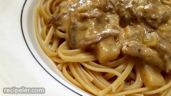 Fettuccini con Rinforza e Patata