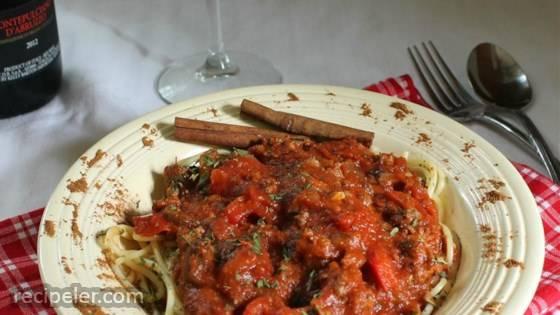 Field Grade Spaghetti Sauce