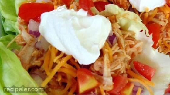 Fiesta Slow Cooker Shredded Chicken Tacos