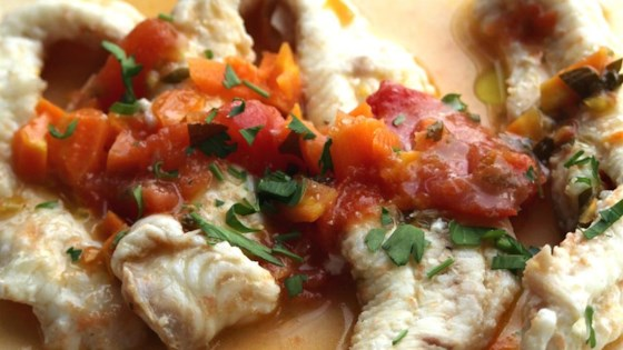fish in a red sauce