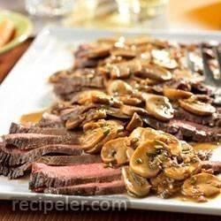 Flank Steak with Mushroom Sauce