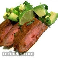 Flat ron Steak with Three Pepper Rub