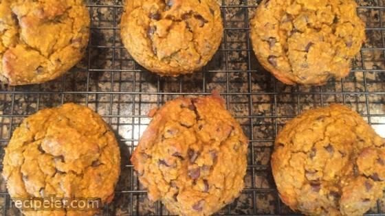 Flourless Banana Chocolate Chip Muffins