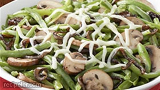 French Onion & Mushroom Green Beans