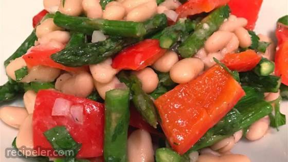 Fresh Asparagus and White Bean Salad