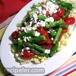 Fresh Asparagus, Tomato, and Feta Salad
