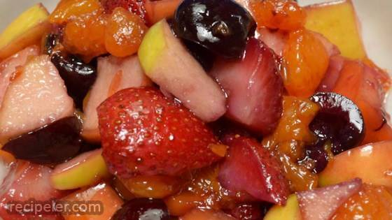 Fresh Fruit Salad with Honey Lime Dressing