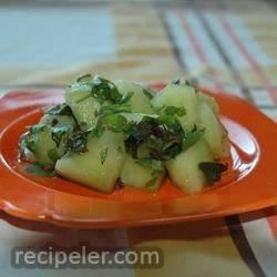 Fresh Mint and Cilantro Melon Salad