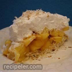 Fresh Peach Angel Pie