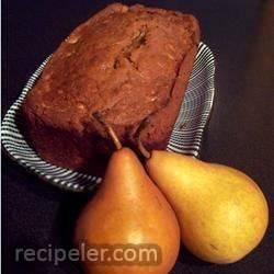 fresh pear bread