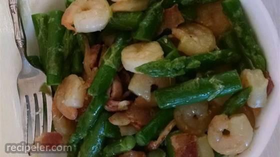 Fried Asparagus with Bacon