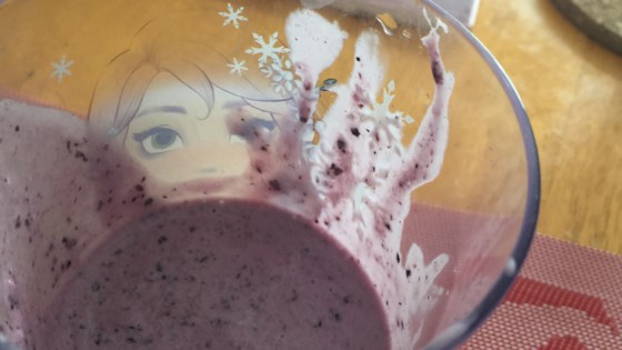 frozen blueberry smoothie