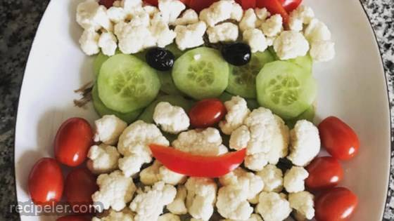 Fun Santa Vegetable Tray