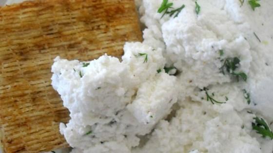 garlic and basil goat cheese