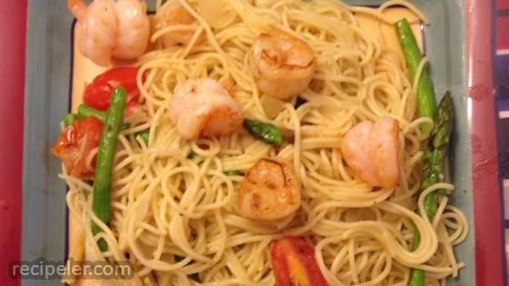 Garlic Angel Hair Shrimp