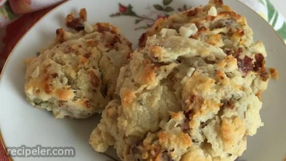 Garlic, Blue Cheese, and Bacon Biscuits