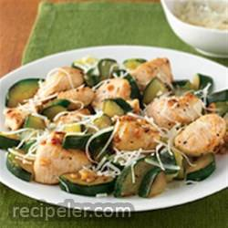 Garlic Chicken and Zucchini