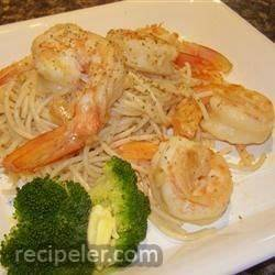 Garlic Pasta with Prawns